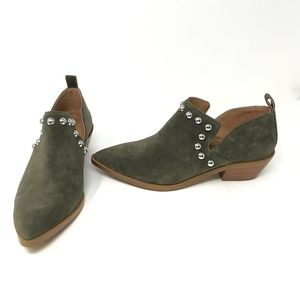 Rebecca Minkoff Katen Studded Suede Ankle Booties